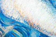Målning kanfas, olja på kanfas Selektiva fragment av picten Arkivfoto
