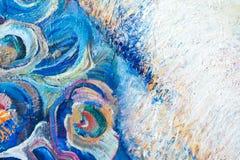 Målning kanfas, olja på kanfas Selektiva fragment av picten Royaltyfria Foton