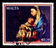 Målning` Madonna och barn` av Francesco Trevisani, julserie 2008, circa 2008 Arkivbilder