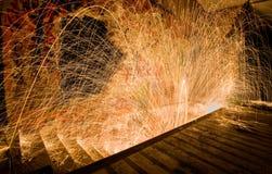 Målning och trappa för ljus för spiral för virvel för stålull Royaltyfri Fotografi