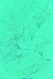 Målning som är nära upp av livligt turkosljus - grön färg royaltyfri fotografi