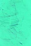 Målning som är nära upp av livligt turkosljus - grön färg royaltyfri foto