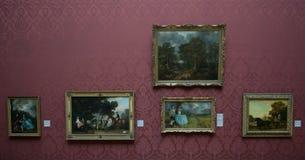 Målningar av Richard Wilson och Thomas Gainsborough i National Gallery av London Royaltyfria Bilder