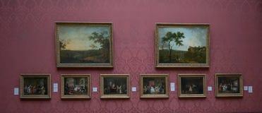 Målningar av Richard Wilson och Thomas Gainsborough i National Gallery av London Arkivfoto