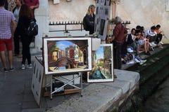 Målningar av Venedig, Italien royaltyfri bild