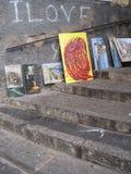 Målningar i gatan Arkivfoton