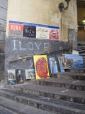 Målningar i gatan Arkivbild