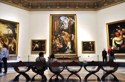 Målningar i Vaticanenmuseerna Arkivbild