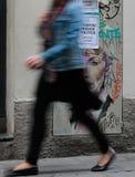 Målningar mot politiska fångar i den barcelona lodlinjen Royaltyfri Fotografi