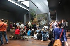 Målningar på det Orsay museet (d'Orsay Musee) - Paris Arkivbilder