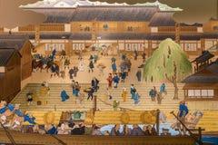 Målningar på Osaka Museum av historia royaltyfria bilder
