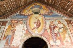 Målningarna av romanesquekyrkan av St Bernard Royaltyfria Foton
