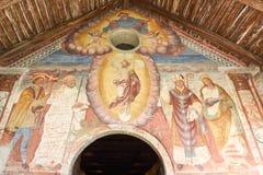 Målningarna av romanesquekyrkan av St Bernard Arkivbild