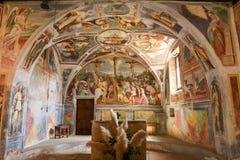 Målningarna av romanesquekyrkan av St Bernard Royaltyfri Fotografi