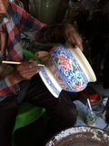 Målningchinaware Royaltyfria Foton