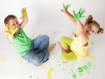Målningen är rolig för ungar Royaltyfri Bild