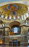 Målningen på kupolen av den sjö- domkyrkan av helgonet Nichola Arkivbild