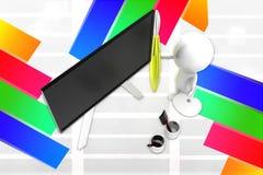 målningkonstnär för man 3d Arkivbild