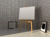målningmodell för tolkning 3D royaltyfri illustrationer