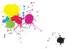 målningsfärgstänk arkivbilder