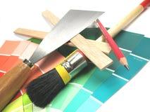 målningshjälpmedel Arkivfoto
