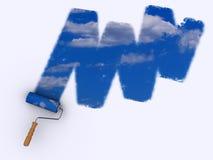 målningssky Arkivbild