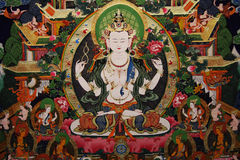 målningsthangka tibet royaltyfri illustrationer