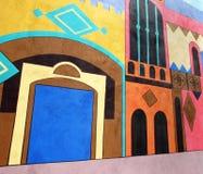 målningsvägg Arkivfoto