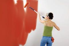 målningsvägg Arkivbild