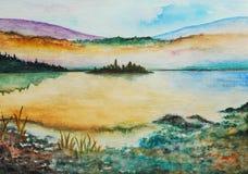 målningsvattenfärg Royaltyfri Fotografi