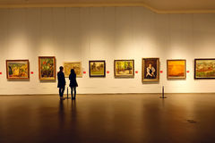 Målningutställning royaltyfri foto