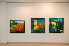 Målningutställning i Jurmala Royaltyfri Foto