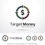 Målpengar Logo Template Design Vector Royaltyfri Illustrationer