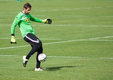 Målvakt Christofer Heimeroth i klänning av Borussia Monchengladbach Arkivfoton