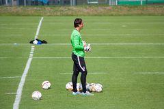 Målvakt Yann Sommer i klänning av Borussia Monchengladbach Fotografering för Bildbyråer