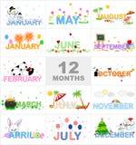 månader Royaltyfri Foto