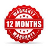 12 månader garantivektorsymbol Royaltyfri Bild