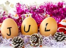 Månatlig kalender - Juli Royaltyfri Bild