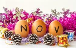Månatlig kalender - November Arkivbilder
