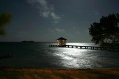 Månbelyst Cabana Royaltyfria Foton