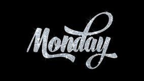 måndag blinkatext önskar partikelhälsningar, inbjudan, berömbakgrund