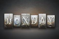 måndag boktryck Arkivfoto