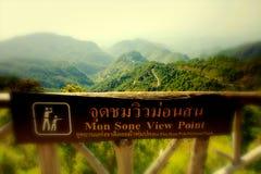 måndag Sone View Point Arkivbild