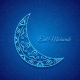 Måne för den muslimska gemenskapfestivalen Eid Mubarak Arkivfoto
