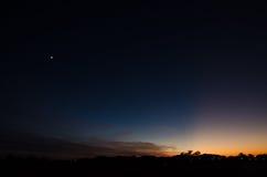 Måne för natthimmel Royaltyfria Foton