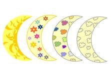 Måne fyra Arkivfoto