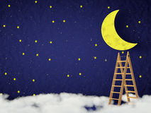 Måne och stjärnorna Royaltyfri Bild
