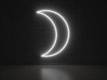 Måne - serieneontecken Fotografering för Bildbyråer