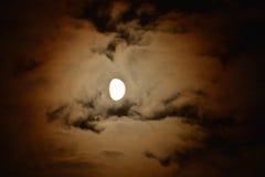 måne vid natt Royaltyfri Foto