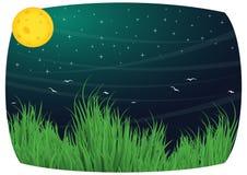 Månebakgrundsillustration vektor illustrationer